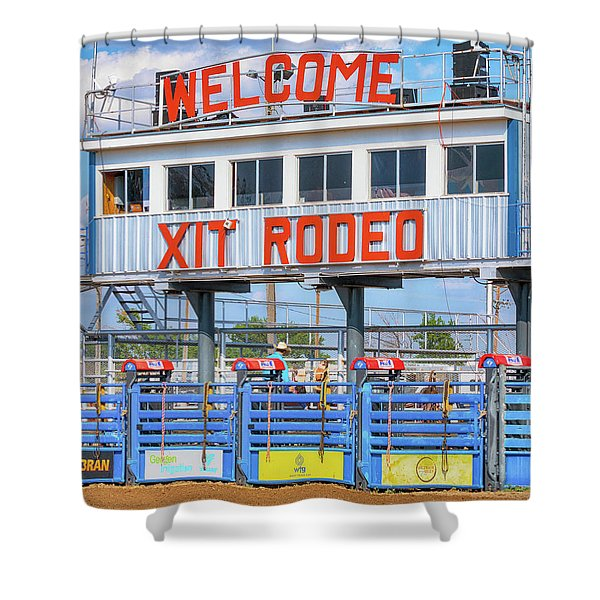 Rodeo Time In Texas - #1 Shower Curtain