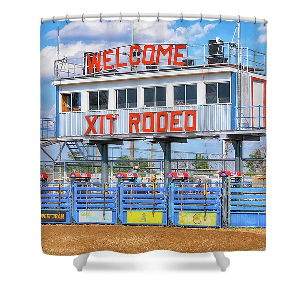 Rodeo Time In Texas - #2 Shower Curtain