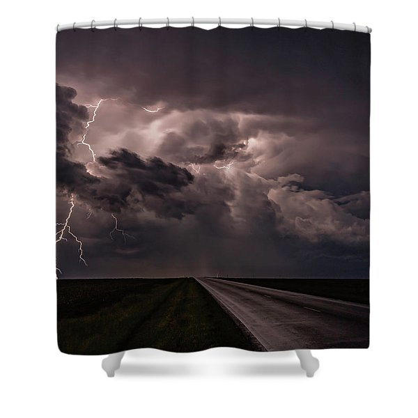 Rollin On Down The Road Shower Curtain