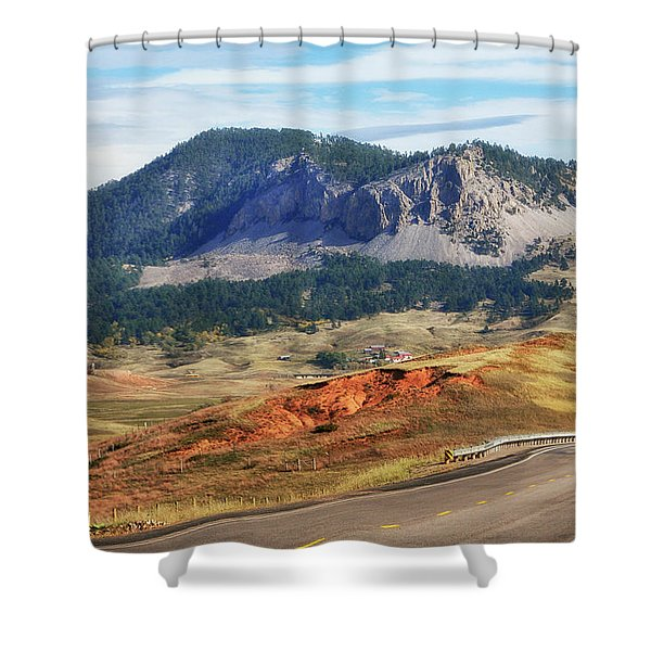 Shower Curtain featuring the photograph Rolling Hills In Wyoming Usa by Gerlinde Keating - Galleria GK Keating Associates Inc
