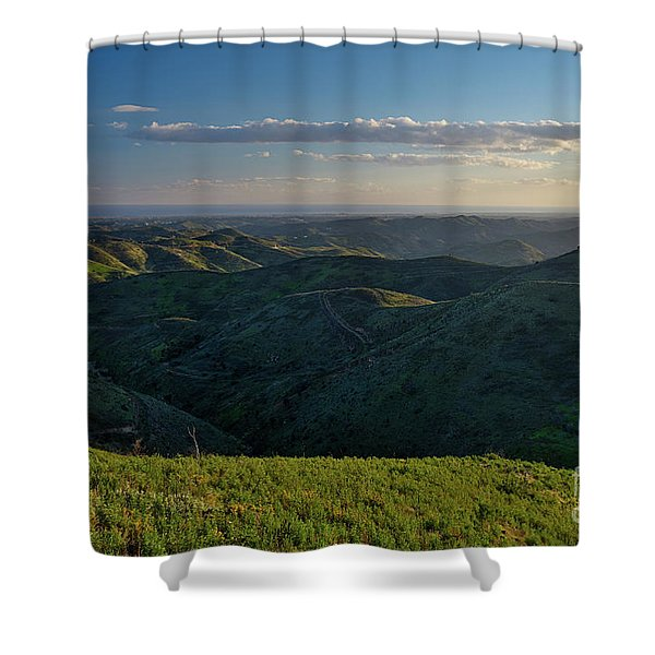 Rolling Mountain - Algarve Shower Curtain