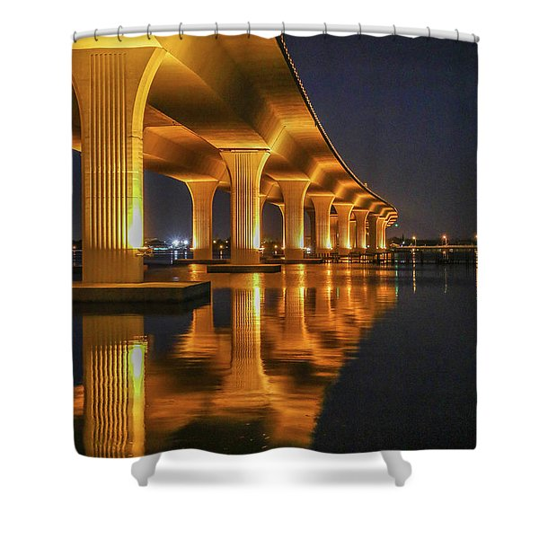 Shower Curtain featuring the photograph Roosevelt Bridge Portrait by Tom Claud