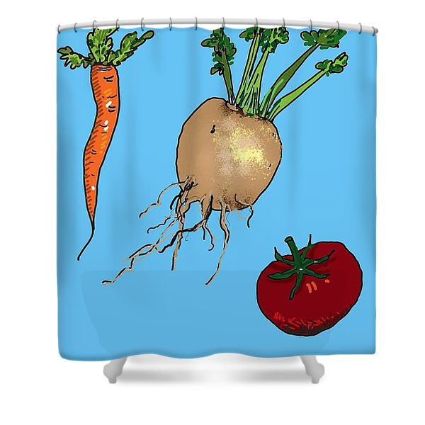 Root Vegetables Shower Curtain