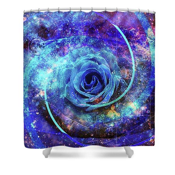 Rosa Azul Shower Curtain