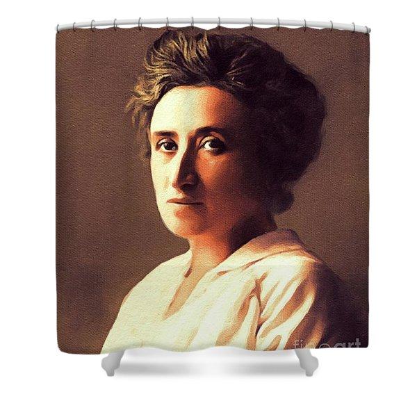 Rosa Luxemburg, Philosopher And Activist Shower Curtain