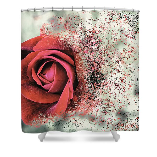 Rose Disbursement Shower Curtain