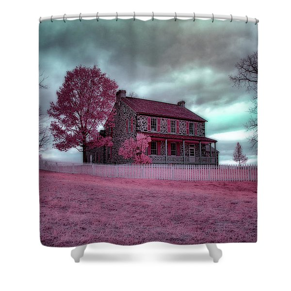Rose Farm In Infrared Shower Curtain