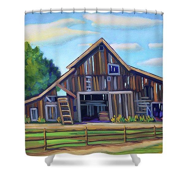Roseberry Barn Shower Curtain