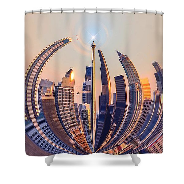 Round The City Shower Curtain