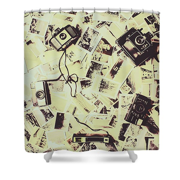 Round Trips Shower Curtain