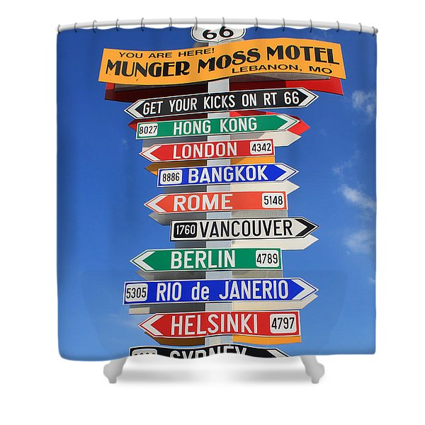 Route 66 - Crossroads Of The World Shower Curtain