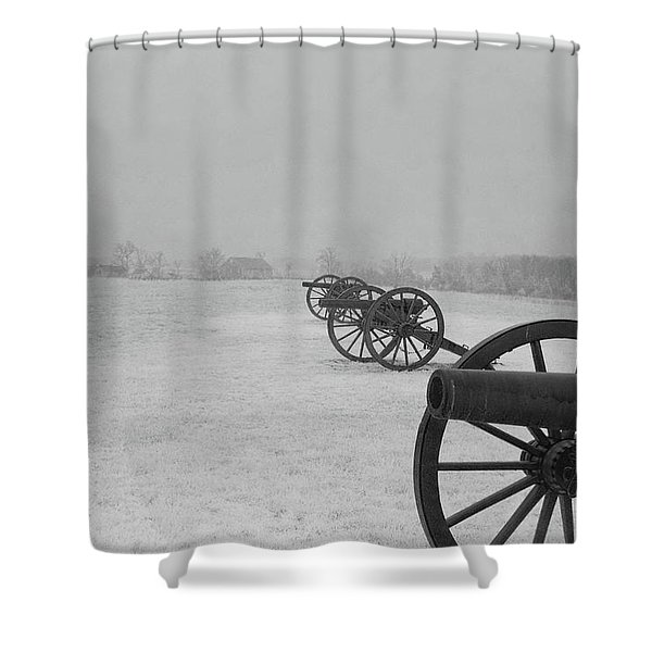 Row Of Cannon Shower Curtain