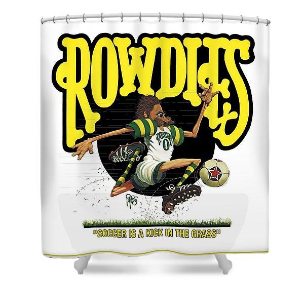 Rowdies Old School Shower Curtain