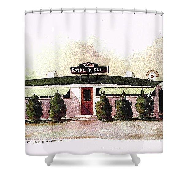 Royal Diner Shower Curtain