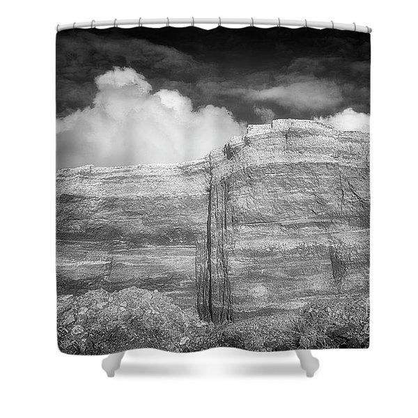 Rubble Mesa Shower Curtain