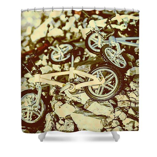 Rugged Biking Shower Curtain