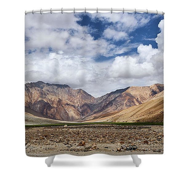 Shower Curtain featuring the photograph Rugged Himalayan Mountains by Whitney Goodey