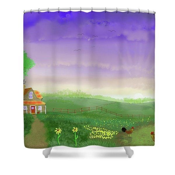 Rural Wonder Shower Curtain