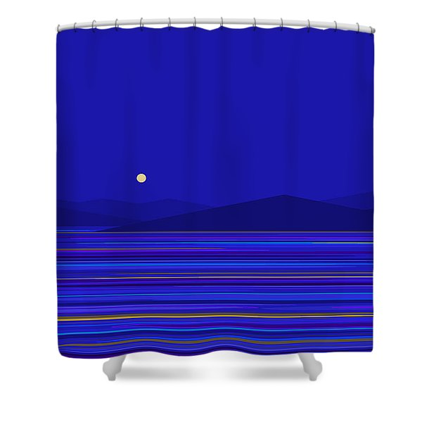 Rushing Water And Blue Mountains Shower Curtain