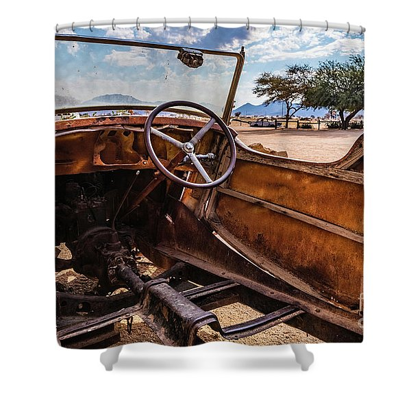 Rusty Car Leftovers Shower Curtain