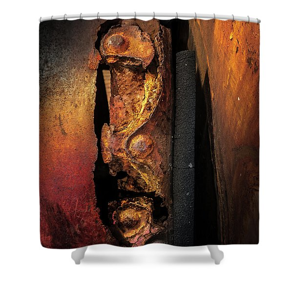Rusty Colours Shower Curtain