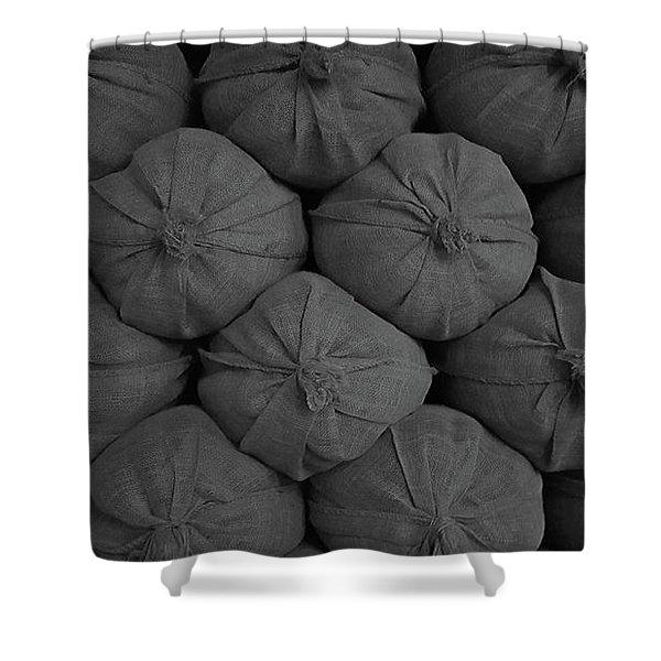 Sacks Stacked Shower Curtain