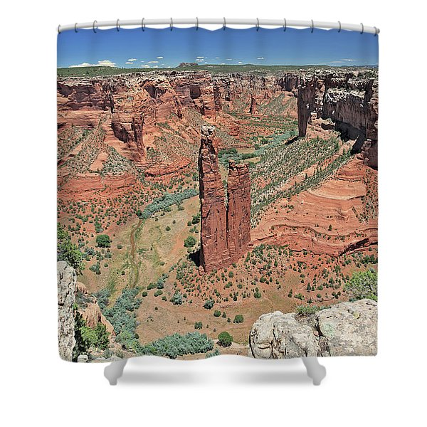 Sacred Spider Rock Shower Curtain