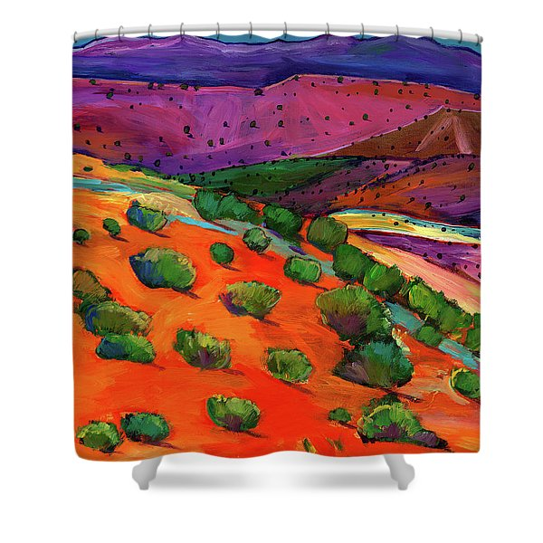Sage Slopes Shower Curtain