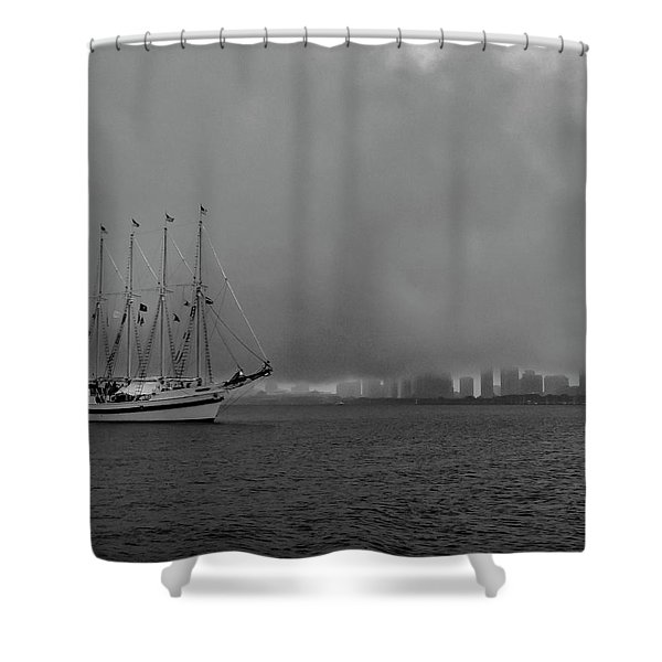 Sail In The Fog Shower Curtain