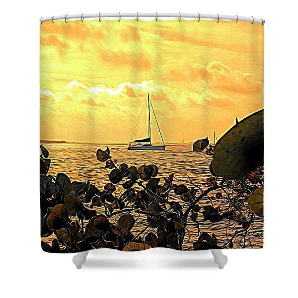 Sail The Manatee River Shower Curtain