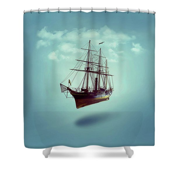 Sailed Away Shower Curtain