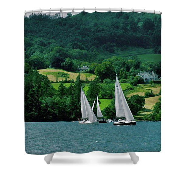 Sailing By Shower Curtain