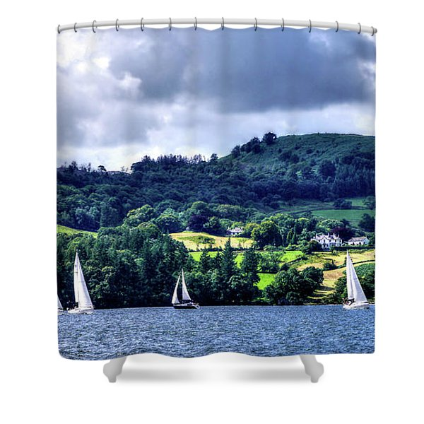 Sailing In Heaven Shower Curtain