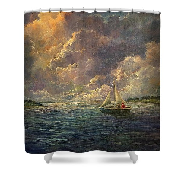 Sailing The Divine Light Shower Curtain