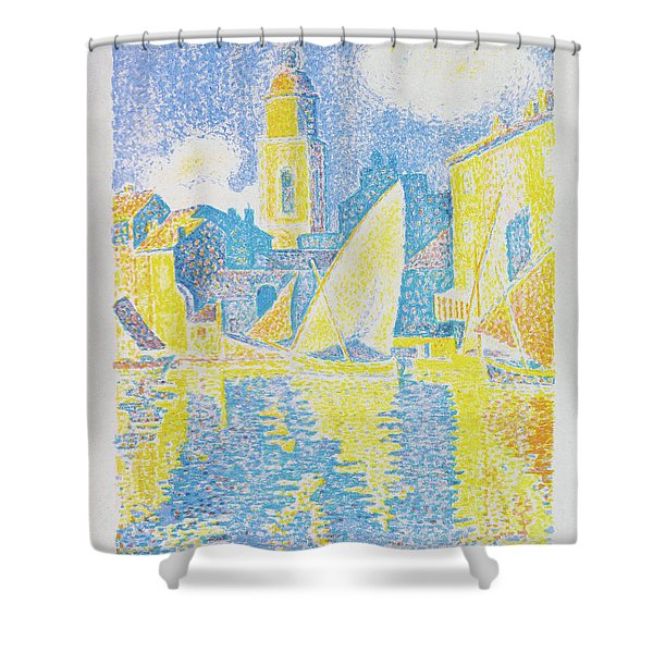 Saint-tropez The Port - Digital Remastered Edition Shower Curtain