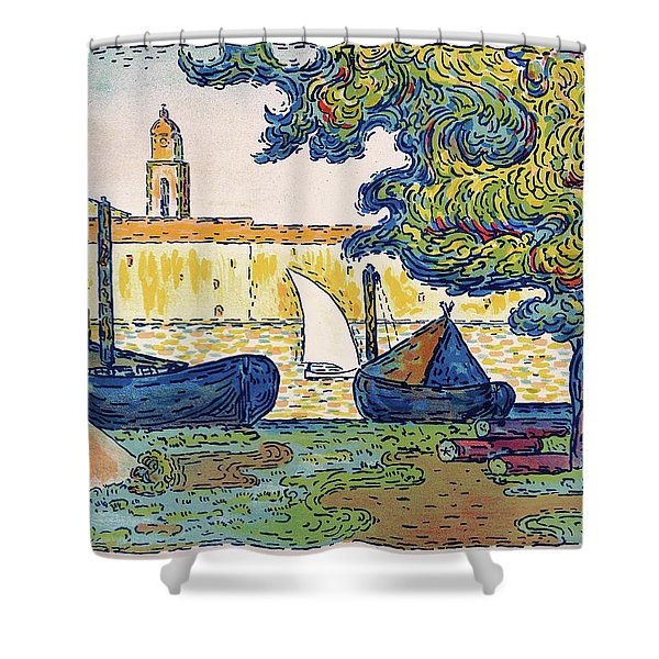 Saint-tropez, The Port Of St. Tropez - Digital Remastered Edition Shower Curtain