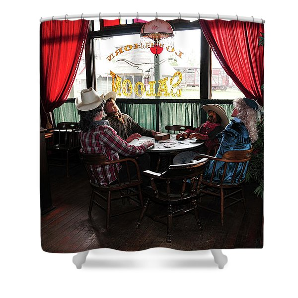 Shower Curtain featuring the photograph Saloon 1880 Town South Dakota by Gerlinde Keating - Galleria GK Keating Associates Inc