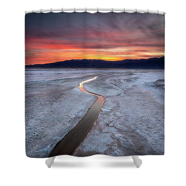 Salt Creek Flats Shower Curtain