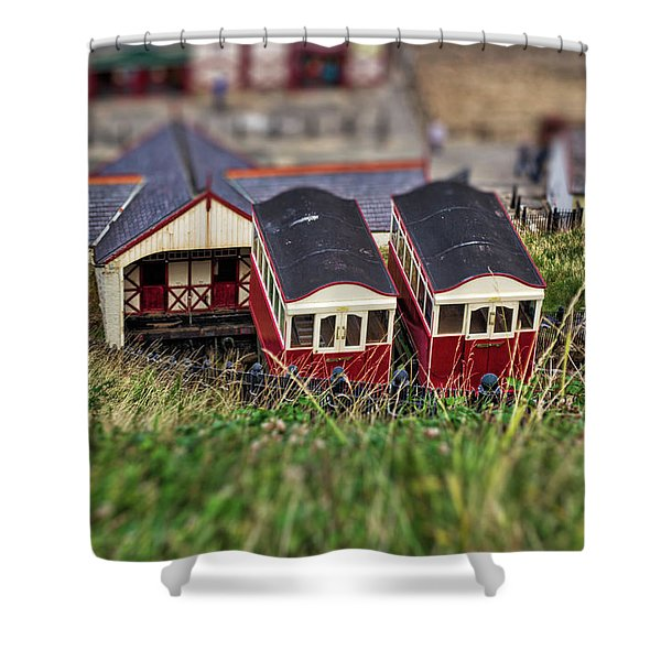 Shower Curtain featuring the photograph Saltburn Tramway by Scott Lyons