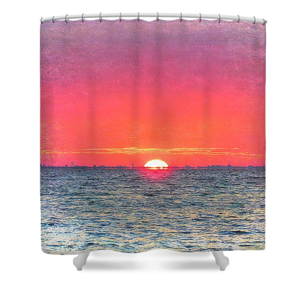Salty Sunrise Shower Curtain