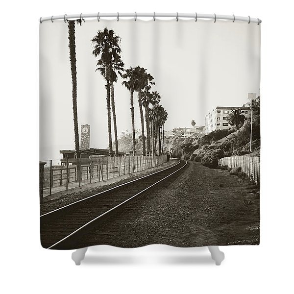 San Clemente Train Tracks Shower Curtain