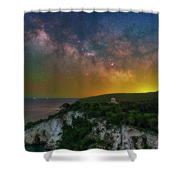 San Felice Arch And Tower Shower Curtain