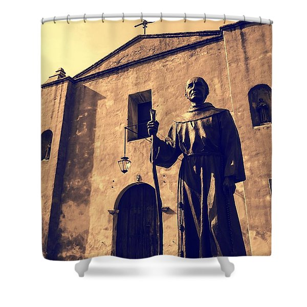 San Gabriel Valley Mission By Richard Cuevas  Shower Curtain