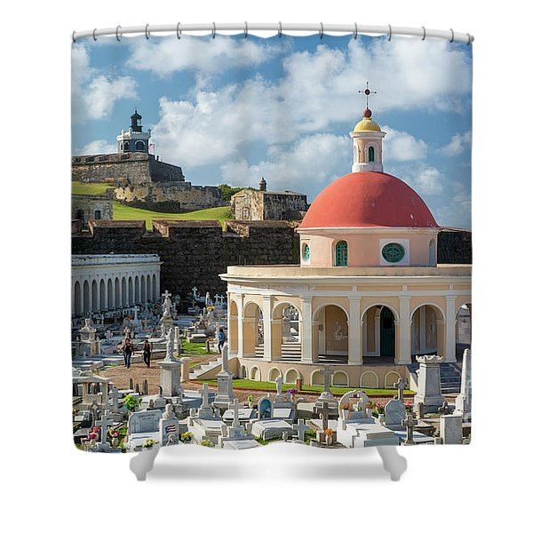 San Juan Cemetery And Fortress Shower Curtain