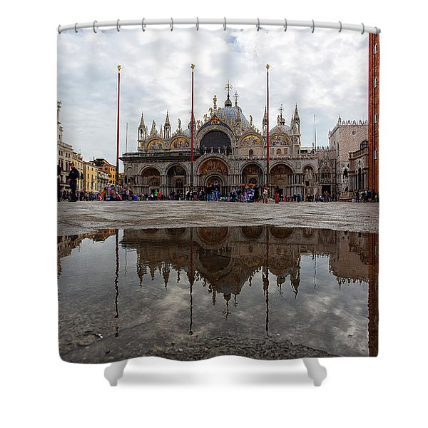 San Marco Cathedral Venice Italy Shower Curtain