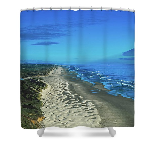 Sand Dunes Along The Oregon Coastline Shower Curtain