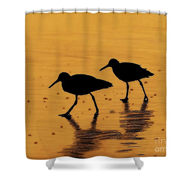 Sandpipers - At - Sunrise Shower Curtain