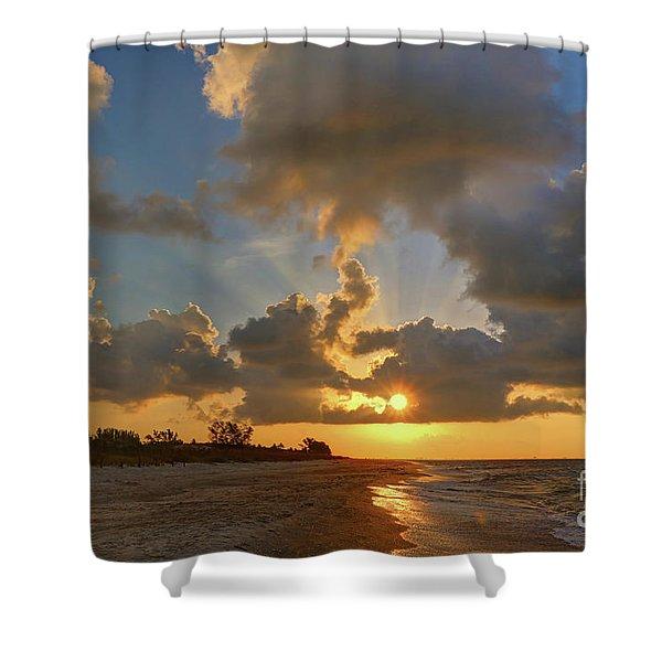 Sanibel Island Sunrays Shower Curtain