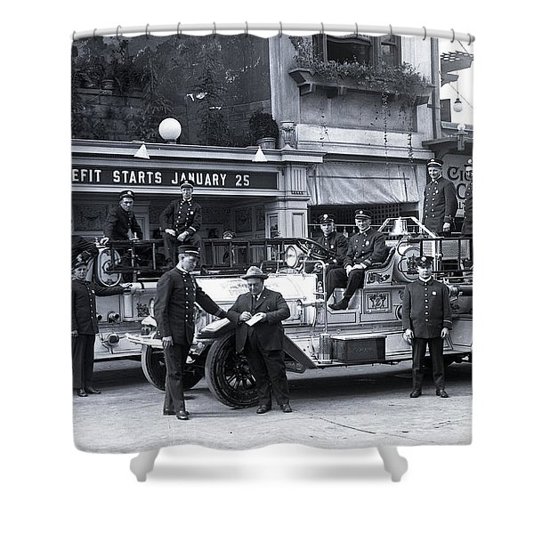 Santa Monica Firemen 1920 Shower Curtain