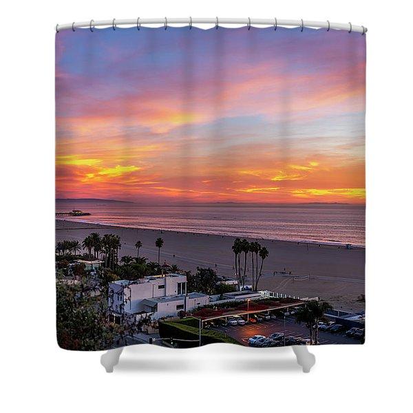 Santa Monica Pier Sunset - 11.1.18  Shower Curtain